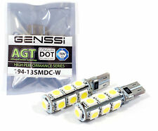 2 X CANBUS Error Free White T10 13 SMD 5050 Interior LED Light bulb W5W 194 168