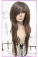 NEWJF129  charming Popular brown long straight cosplay wig hair wigs for women