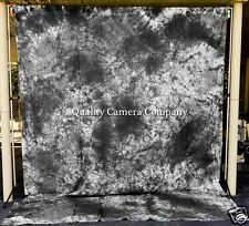 Black, Gray & White Dyed Fabric Background -9 x 12' + POLE POCKET - EXCELLENT