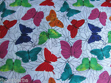 BUTTERFLIES FUNKY FLORAL BUTTERFLY CP40187 on COTTON FABRIC Priced By The Yard
