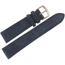 20mm Mens Fluco Blue Suede Leather Made in Germany Watch Band Strap