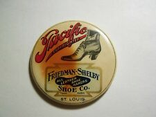 Antique Pacific Friedman - Shelby Shoe Company Advertising Mirror St. Louis