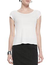 NEW Eileen Fisher White Cap Sleeve Silk Tee Top- Soft white M