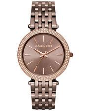 Michael Kors Darci Sable Brown Crystal Stainless Steel Ladies Watch MK3416
