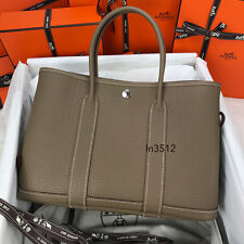 NEW! AUTHENTIC 2017 HERMES GARDEN PARTY 30cm ETOUPE NEGONDA LEATHER HANDBAG BAG
