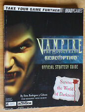 VAMPIRE THE MASQUERADE REDEMPTION OFFICIAL BRADYGAMES STRATEGY GUIDE for PC