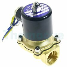 """2 Position DC 12V 3/4"""" Solid Coil Electric Solenoid Valve Gas Water Fuels Air"""