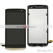 New LG C50 Leon LTE 4G H340n LCD Display Touch Digitizer Assembly+Gold Frame