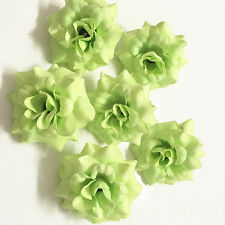 6pcs Green Artificial Fake Silk Leaf Bridal Wedding Party Decor Rose Flower~#