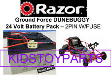 New! 24V Battery Pack for Razor GROUND FORCE DUNEBUGGY V1+ 2 pin w/fuse