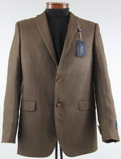 Men's RALPH LAUREN Brown Silk Wool Jacket Blazer 50L 50 Long NWT NEW Slim Fit
