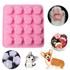 Pets Cat Dog Paw Cookie Silicone Cake Candy Chocolate Mold Soap Ice Cube Mold