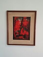 FRAMED IMPRESSIONISM OIL PAINTING SIGNED BY LISTED ARTIST LEWIS SCOTT CROFT