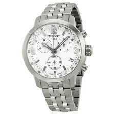 Tissot PRC200 Chronograph White Dial Stainless Steel Mens Watch T0554171101700