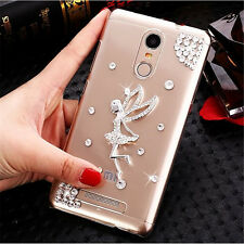 Bling Crystal Gem Diamonds Thin Clear Soft TPU Back Shell Case Cover For Apple A