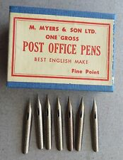 7 VINTAGE RARE OLD/NEW MYERS & SON BRONZE #1896F PEN NIBS+DRAW+CALLIGRAPHY+