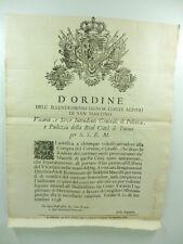 D'ordine dell'illustrissimo signor conte Alfieri di San Martino