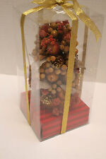 "NEW MIB Decorative Table Top Christmas Tree 11"" tall with Fruits, Berries, Pine"