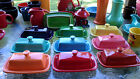 XL extra large COVERED BUTTER DISH paprika NEW HOMER LAUGHLIN FIESTA