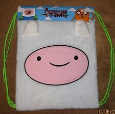 FINN Fuzzy Plush Cinch Sac Backpack Back Sack Officially licensed ADVENTURE TIME