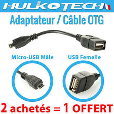 CABLE ADAPTATEUR USB FEMELLE / MICRO MALE OTG POUR Samsung Galaxy Alpha / Note 4