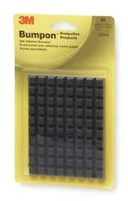 3M Square Bumpons  SJ5018 Black  blister Pack of 80  ( SJ5018 )