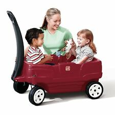 Plastic Pull Wagon For Kids Step2 Neighborhood Red New