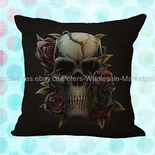 *US SELLER*patio furniture Sugar Skull Day of the Dead cushion coverr