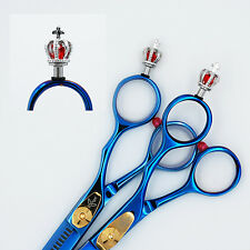 "5"" & 5.5""  Professional Hairdressing Hair shears scissors Set Blue AB_02 case"