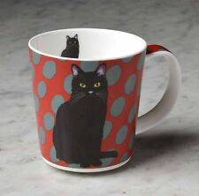 Leslie Gerry Mug Black Cat Fine Bone China Stunning Life Like Design Gift New