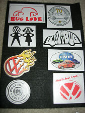 Stickers Decals for VW beetle bug bus ghia Aircooled