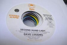 Rock Promo 45 Dave Loggins - Second Hand Lady / Same On Epic (Promo)