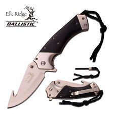"""8.5"""" BLACK ELK RIDGE SPRING ASSISTED FOLDING KNIFE Blade pocket open switch"""