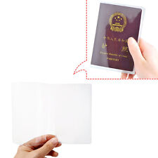 Passport Cover Case Clear Transparent Holder Organizer ID Card Travel Protector