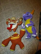 LOT or THREE - Skylanders Giants Plush - eruptor, spryo, trigger happy