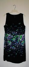 LANE BRYANT WOMEN'S BLACK WITH PRINT DRESS PLUS SIZE 18