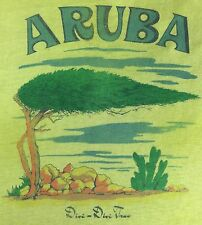 True Vintage 70s 80s Aruba Divi-Divi Tree Graphic Cotton Poly Thin T-Shirt L/XL