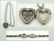 Lovely Vintage Catherine Popesco La vie Parisienne Heart Shaped Locket & Chain