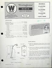 Original Factory Westinghouse H-693/694/695-P8 V-2278-5 AM Radio Service Manual