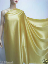 by the Yard New Wheat Gold Pure Silk Satin Charmeuse Fabric Dressmaking Material
