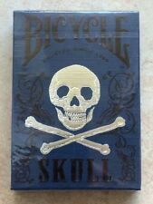 1 Deck Bicycle Luxury (blue) Skull Playing Cards by Bocopo and printed by USPCC