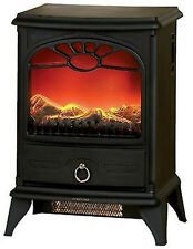 2000W Log Burning Flame Effect Stove Electric Fire Heater Fireplace Delta PE139A