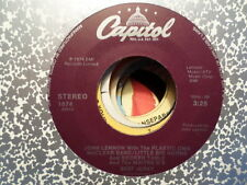 CAPITOL 45 RECORD/JOHN LENNON/WHATEVER GETS YOU THROUGH THE NIGHT/BEEF JERKEY/N