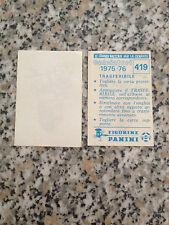 SCUDETTO TRASFERIBILE FOGGIA N.419 CALCIATORI PANINI 1975-76 NUOVO CON VELINA