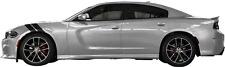 Le Mans Front Fender Hash Stripes for Dodge Charger 2015 & Up