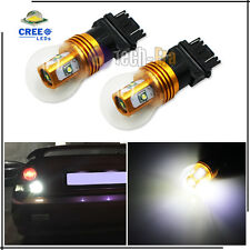 2x HID White High Power 5 CREE 3156 3056 3157 LED Bulbs For Reverse Backup Light
