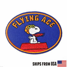 Snoopy Peanuts Sew-on FLYING ACE Patch