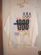 VINTAGE OFFICIAL 1988 OLYMPIC GAMES -KOREA- SWEAT TOP- SIZE-LARGE-NEW
