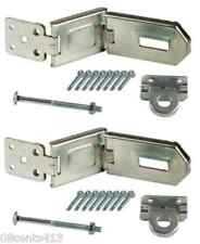 2 Flexible 6 1/4'' (¼) Double-Hinge Security Hasps With Installation Hardware