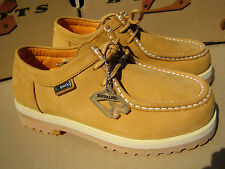 New Buffalino Men Leather Boots Size 10 Color Wheat Low Top